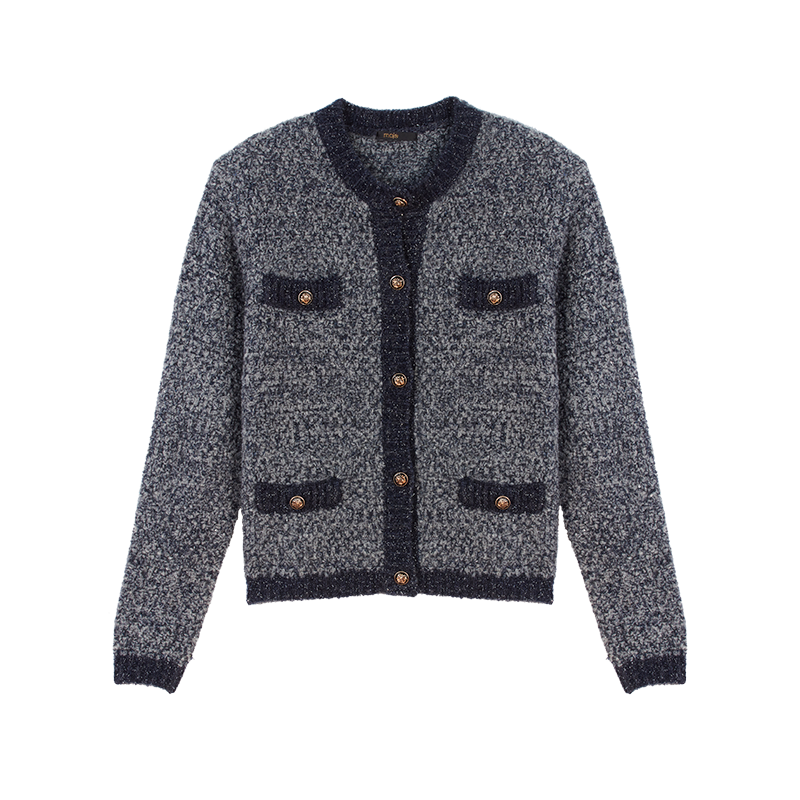 Fancy Lurex knit cardigan - Winter collection - MAJE