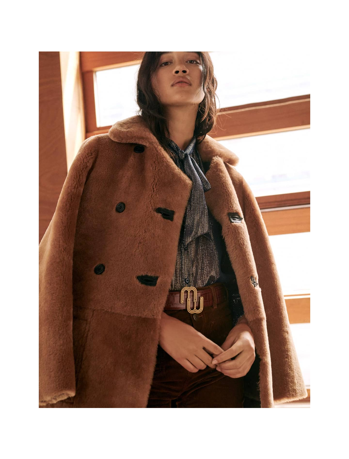 Reversible shearling coat - All the collection - MAJE
